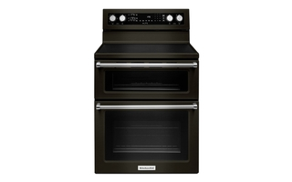 YKFED500EBS - 30-Inch 5 Burner Electric Double Oven Convection Range